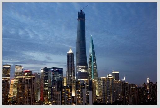 El rascacielos más alto de China Shanghai Tower