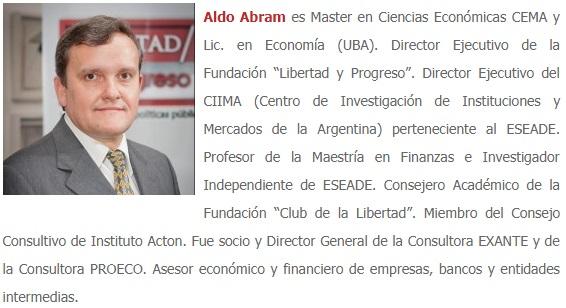 Aldo abram economista
