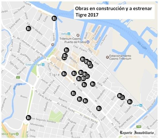 Plano de obras en Tigre