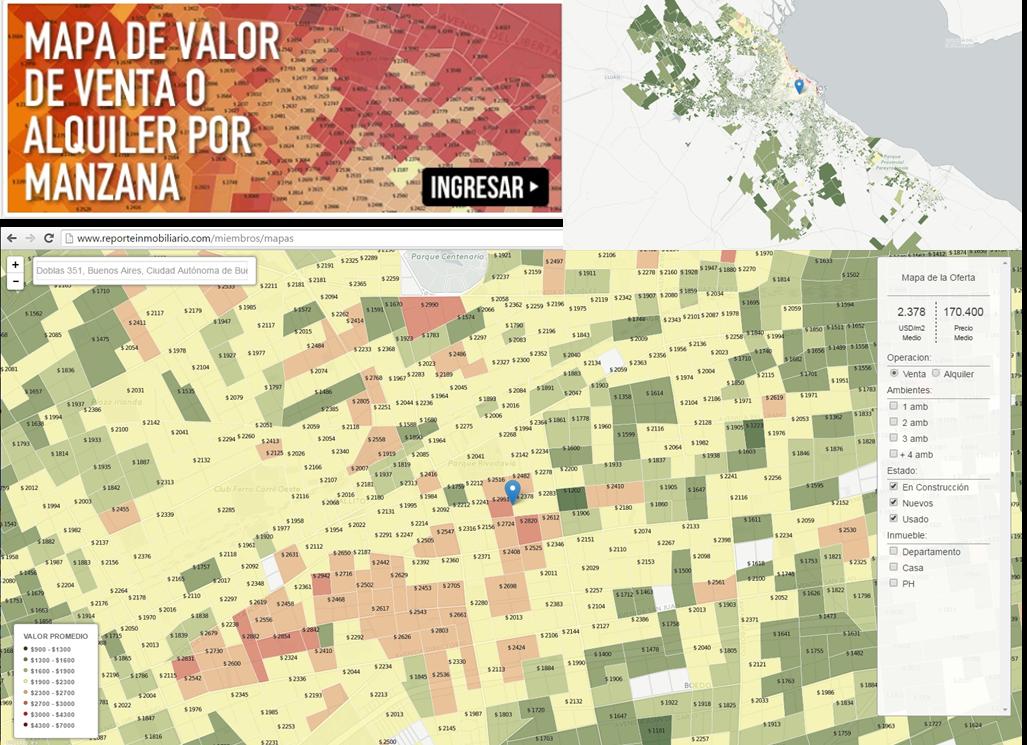 El valor por manzana en Buenos Aires