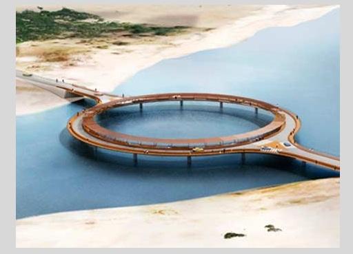 puente de laguna garzon proyectado por Rafael Viñoly